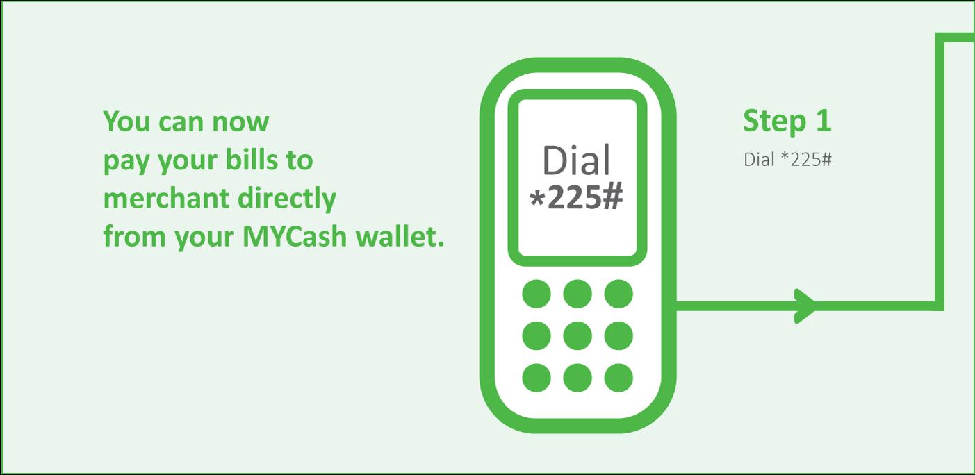 My Cash Merchant Payment Step 1
